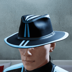 Neon Blue and Black Hat