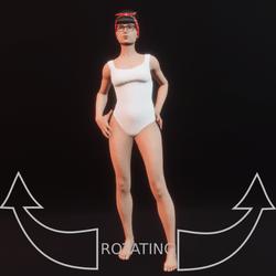model pose 07 rotating