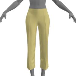 Simple Capris - Yellow