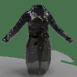 Vinyl Trench Coat female