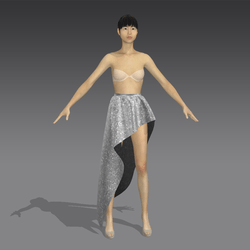Simple Asymmetrical Skirt