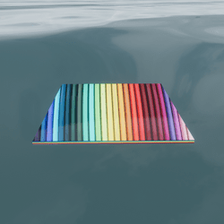 FLOOR/SKY PLATFORM DELUSION  COLORS  - SHAPE SHIFTING  ART