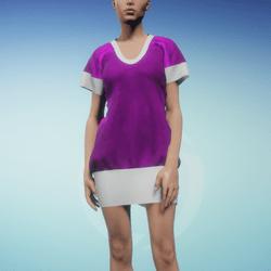 Bibi dress Cannon Pink and White