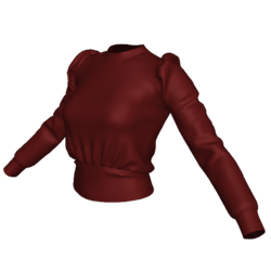 Ribbed Knit Combo Sweater Burgundy