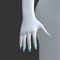 Multi-Colour Gradient Glow-In-The-Dark [Emissive Style 01] False Fake Nails Long