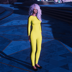 iconic yellow jumpsuit