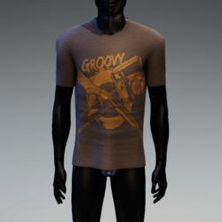 Groovy Horror T-Shirt Brown Heather