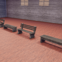 Rustic Park Benches