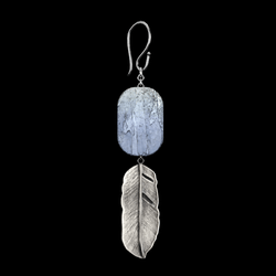 Drop Leaf Earrings Silver