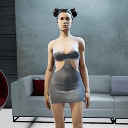 MIA mini dress onyx