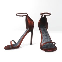 Ankle strap sandals for Nicci- glitter  cinnamon