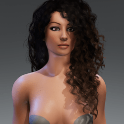 Zoe Curvy Female Avatar