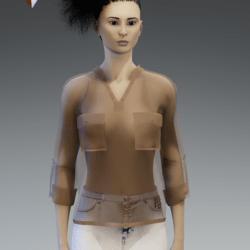 silk shirt beige