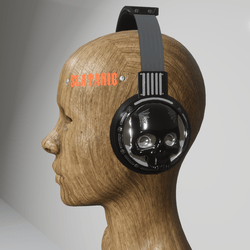 skull headphones (electric black)