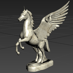 statues horse with wings