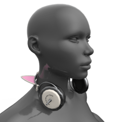 Headphones White-Pink (Neck)