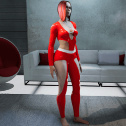 Outfit Carla Latex 2.0 red