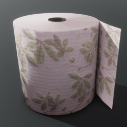 Luxury Toilet Roll - Pink with Leaves