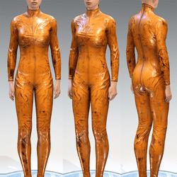 Bodysuit Rubber Catsuit Latex Orange