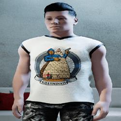 Male Killuminati  Jersey White
