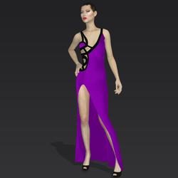 """Amida black purple """"Elisea Carter"""""""