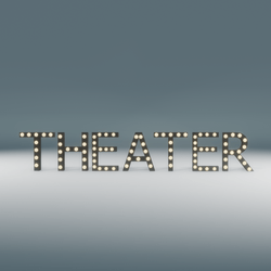 Theater Marquee Blinking Sign