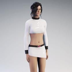 Outfit Adira Latex white