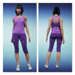 Capris Designer Active Wear Set  - Lavender