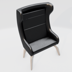 Modern Wingback Chair Black