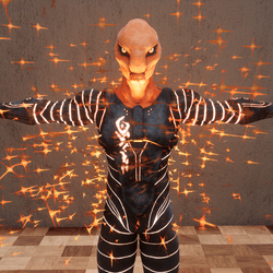 Orange Sparkle Alien
