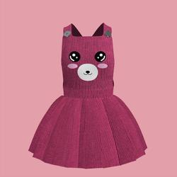 Corduroy Bear Overall Dress 04