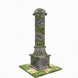 Mossy Crumbling Pillar