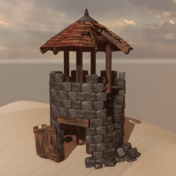 Medieval Tower Ruin