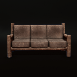 Brown Leather Couch with Sit Target Cb