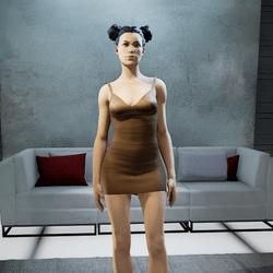 CLELIA strappy dress brown