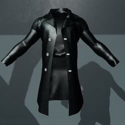 Male Black Leather Jacket