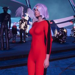 BL jumpsuit red blk