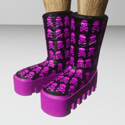 skully moon boots