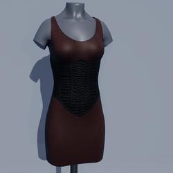 Corset Dress - Coffee Brown
