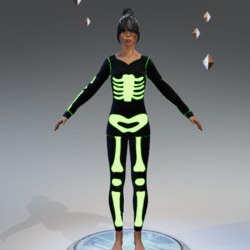 Skeleton green