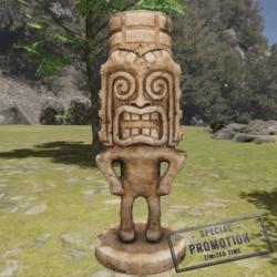 TKA GM Tiki Statue Wood