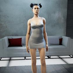 CLECLIA strappy dress pearl