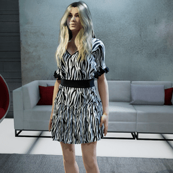 Zebra Flirty Dress