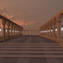 BRIDGE WITH ARCHES AND PILLARS