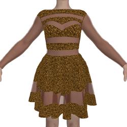 Sequin Dress Rosa Orange