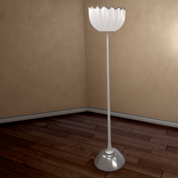 Shell Floor Lamp - Silver - Scripted On / Off