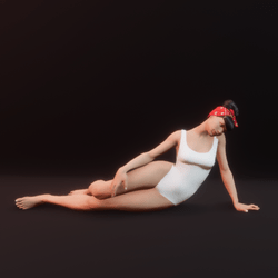 model pose sit 01 (static)