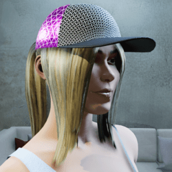 Pink Cap with tintable hair