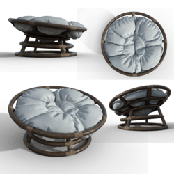 Puffy pillow chair