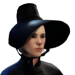 Victorian Christmas black bonnet